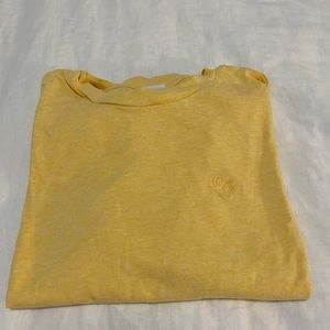 Butter yellow, cropped long sleeve tee